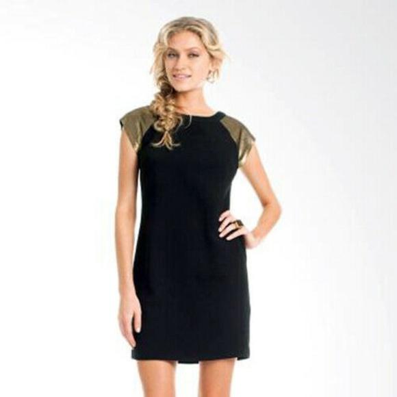 Trina Turk Dresses & Skirts - $328 Trina Turk Vanita Dress Black Metallic Dress